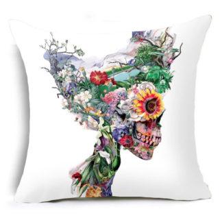 Coussin-Tete-de-Mort-Multicolore-a