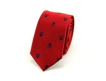 Cravate-Tete-de-Mort-Zaita-Rouge