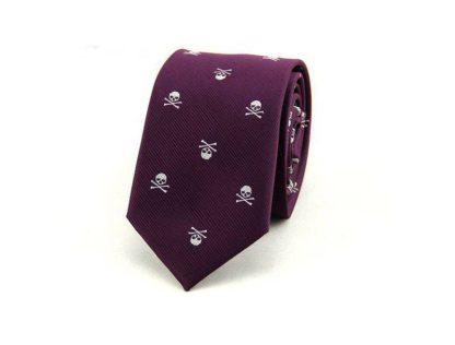 Cravate-Tete-de-Mort-Zaita-Violet