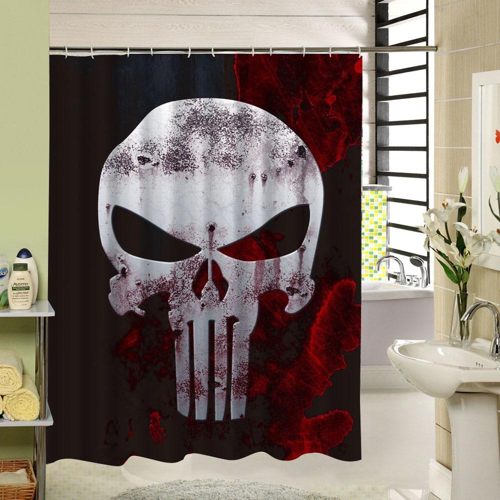 rideau de douche t te de mort kadmo univers tete de. Black Bedroom Furniture Sets. Home Design Ideas