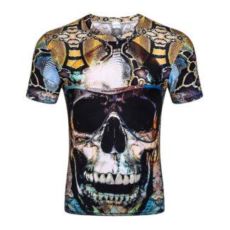 Tee-Shirt-Tete-de-Mort-Bakar