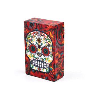 Boite Étui à cigarettes Tête de Mort