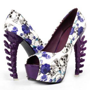 Chaussures-a-Talons-Tete-de-Mort