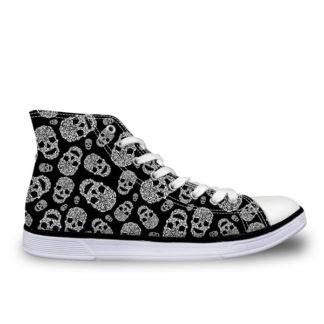 Chaussure Montante Tête de Mort