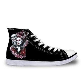 Chaussure-Montante-Tete-de-Mort-Plent