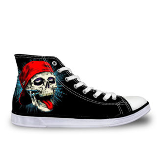Chaussure-Montante-Tete-de-Mort-Poia