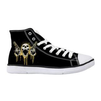 Chaussure-Montante-Tete-de-Mort-Polea