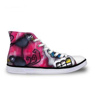 Chaussure-Montante-Tete-de-Mort-Polima