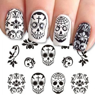 Stickers-Ongles-Tete-de-Mort-Luar