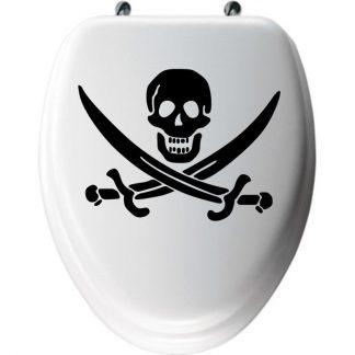 Autocollant-Abattant-WC-Tete-de-Mort-Pirate-Urbe