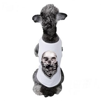 Tee-shirt pour Chien Tête de Mort
