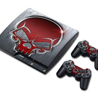 Autocollant-Playstation-3-Tete-de-Mort-Aritz
