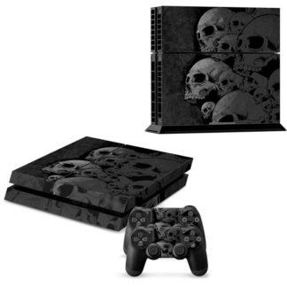 Autocollant-Playstation-4-Slim-Tete-de-Mort-Amilaitz