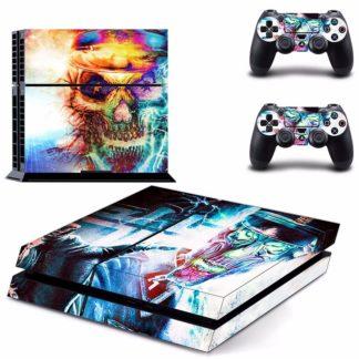 Autocollant-Playstation-4-Slim-Tete-de-Mort-Amuna