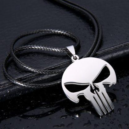 Collier-Pendentif-Punisher-Drakon