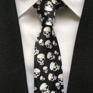 Cravate-Tete-de-Mort-Bertolo