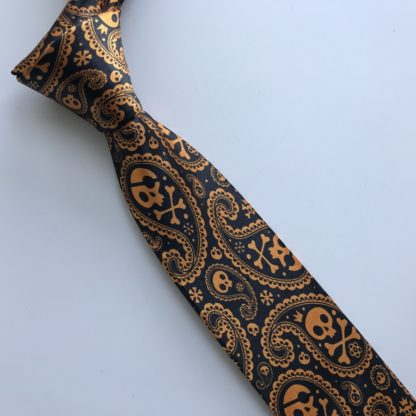 Cravate-Tete-de-Mort-Betine-a