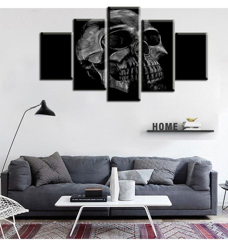 toile t te de mort apraze tableau pas cher univers. Black Bedroom Furniture Sets. Home Design Ideas