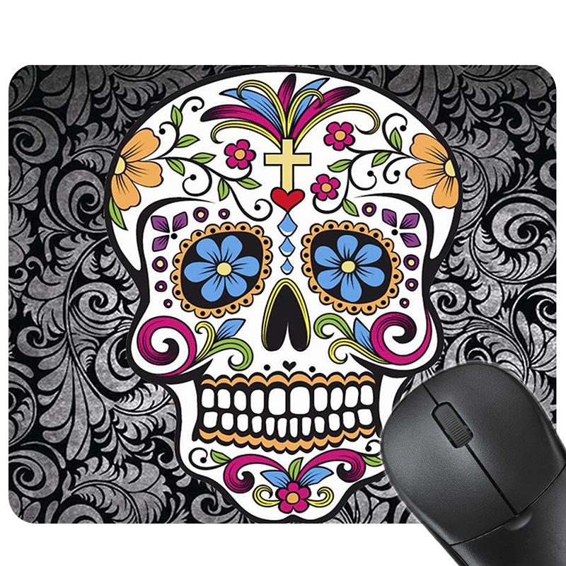 tapis de souris t te de mort mexicaine aroia univers. Black Bedroom Furniture Sets. Home Design Ideas